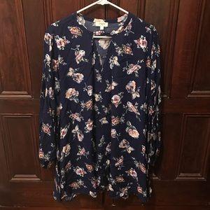 Size L Boho Chic Floral Key Hole Dress